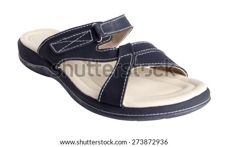 shoe. woman sandal on background. woman sandal on a background - stock photo