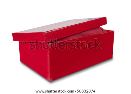shoebox isolated on white with clipping path - stock photo
