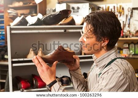 shoemaker - stock photo