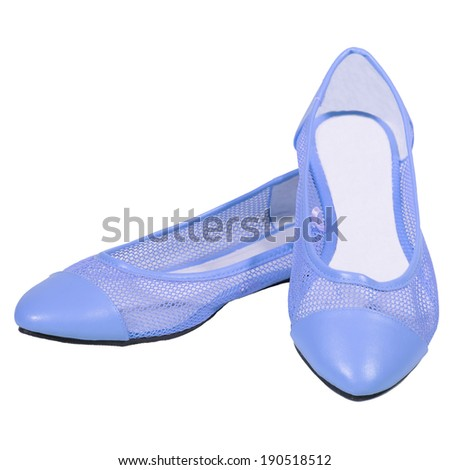 shoes ballet flats lilac  mesh female white background isolated