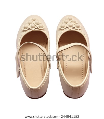 Shoes Girl isolated on white background. - stock photo