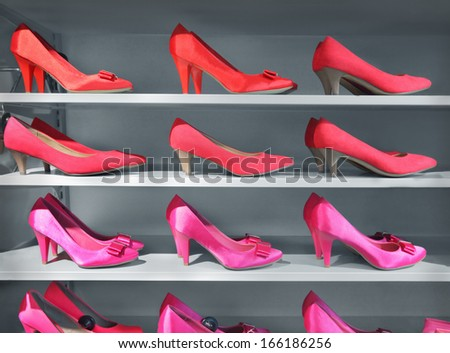 Shoes in store - stock photo