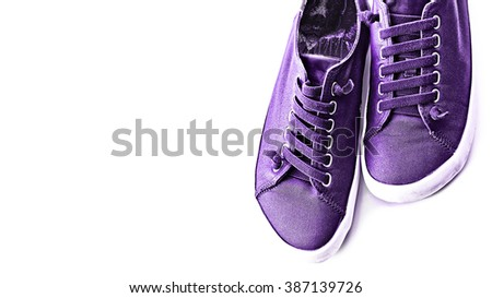Shoes on a white background. Sneakers