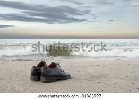 shoes on beach