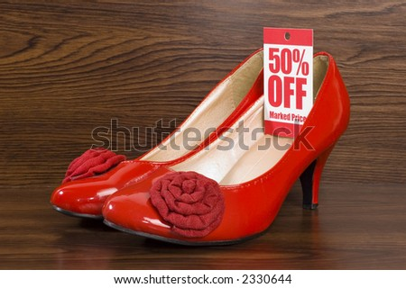 shoes on sale in shop