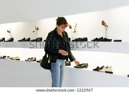 Shoes shopping - stock photo