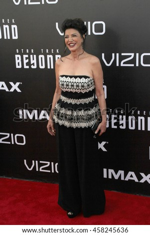 Shohreh Aghdashloo attends at the Star TreK Beyond  premiere during Comic Con on July 20, 2016 at the Embarcadero Marina Park South in San Diego, CA.