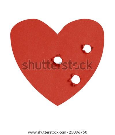 Shoot through heart - stock photo