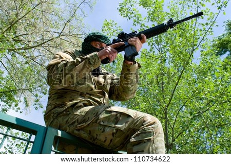 shooter - stock photo