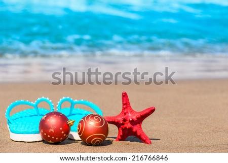 Christmas Cardmerry Christmas Tropic Stock Photo 89232175 ...