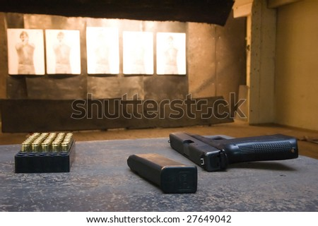shooting range conception - stock photo
