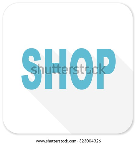 shop blue flat icon