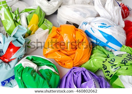 Shop carrier bags.