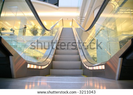 shop escalator 3 - stock photo