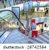 shop mall - stock photo