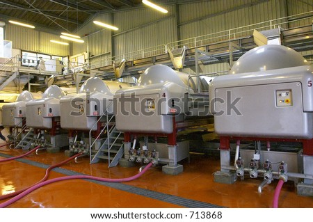 Shop on manufacture of raw material for distillation of cognac