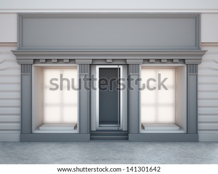 Shop showcase - stock photo