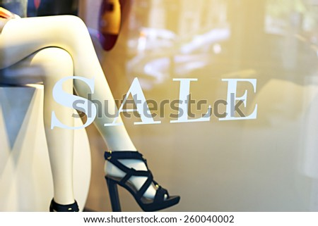 Shop window - stock photo
