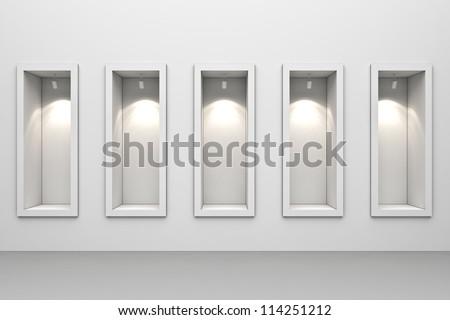 Shop window display - stock photo