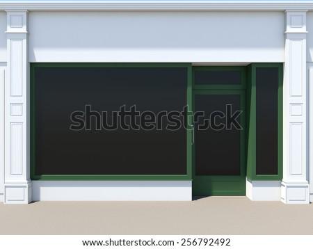 Shopfront with large windows - stock photo