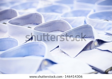 shoping sale background theme. shirts in a shop - stock photo