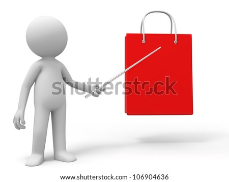 Shopping/A people is explaining a shopping bag - stock photo