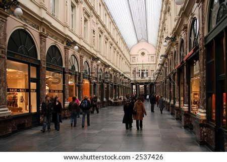 Shopping arcade in Brussels