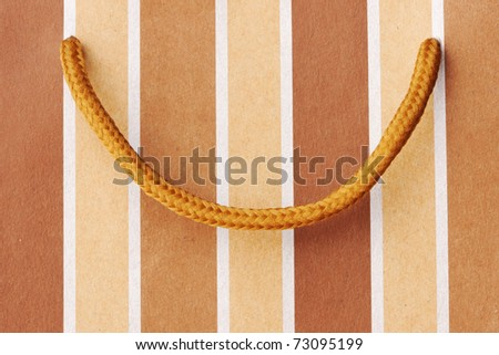 Shopping bag close up background - stock photo