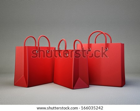 shopping bag isolated on a grey background