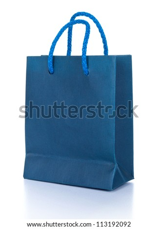 Shopping bag isolated on the white background - stock photo