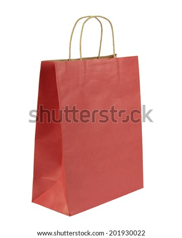Shopping bag isolated on white background.