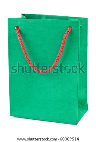 Shopping bag isolated on white background - stock photo