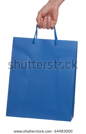 Shopping bag on white background - stock photo
