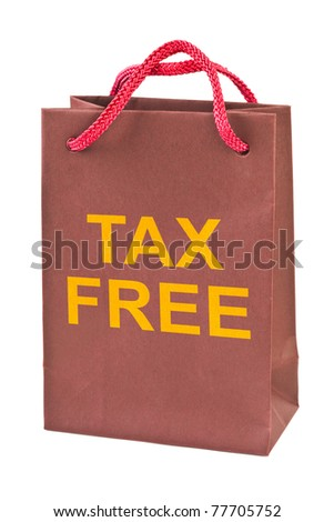 Shopping bag Tax Free isolated on white background - stock photo