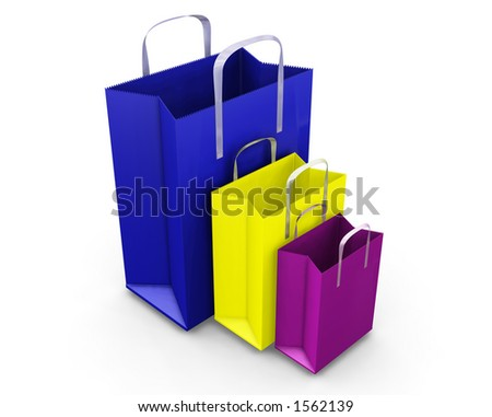 Shopping bags - 3D render
