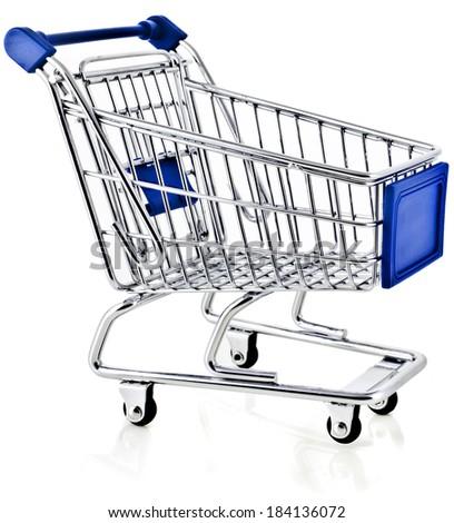 Shopping basket - isolated on white background - stock photo