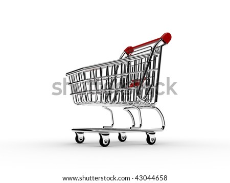 Shopping cart 2 - stock photo