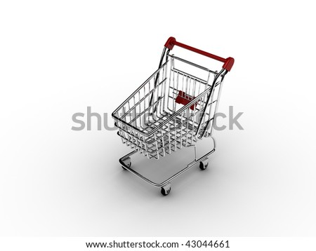 Shopping cart 1 - stock photo