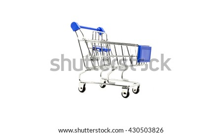 shopping cart isolate on white background