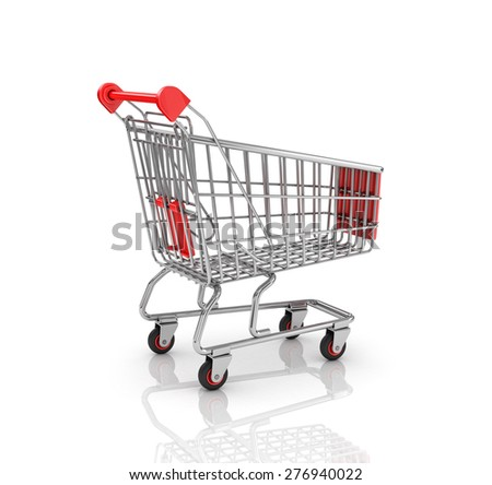 Shopping Cart isolated on the white background.