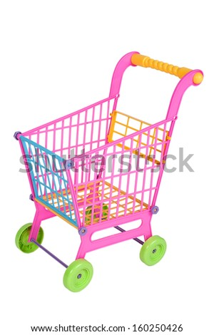 Shopping Cart toy in isolated
