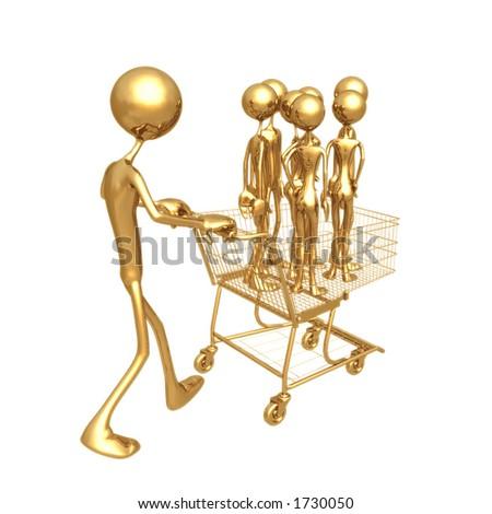 Shopping Cart Workforce - stock photo