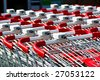 shopping carts closeup - stock photo