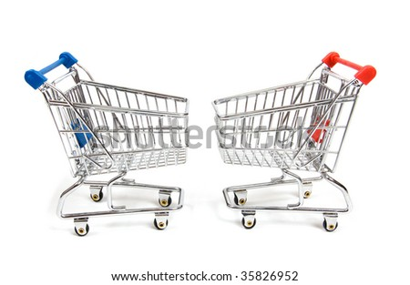 Shopping carts isolated on a white background