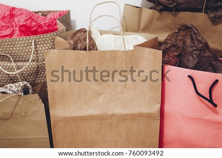 Shopping Christmas Shopping Concept Space Text Stock Photo Royalty