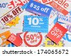 Shopping coupons - stock photo