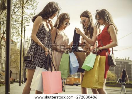 Shopping day - stock photo