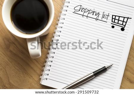 Shopping list conceptual - stock photo