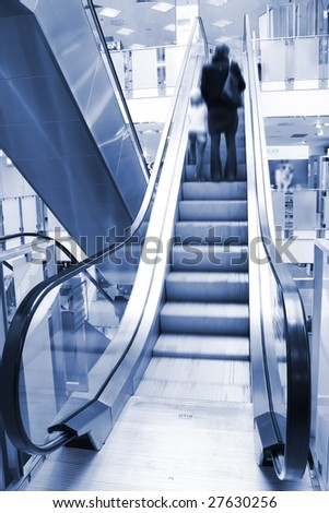 shopping mall - stock photo