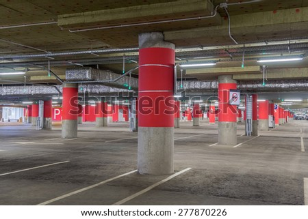 Shopping Mall Parking Lot - stock photo